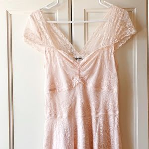 Abercrombie & Fitch Dresses - Light Pink Lace Dress